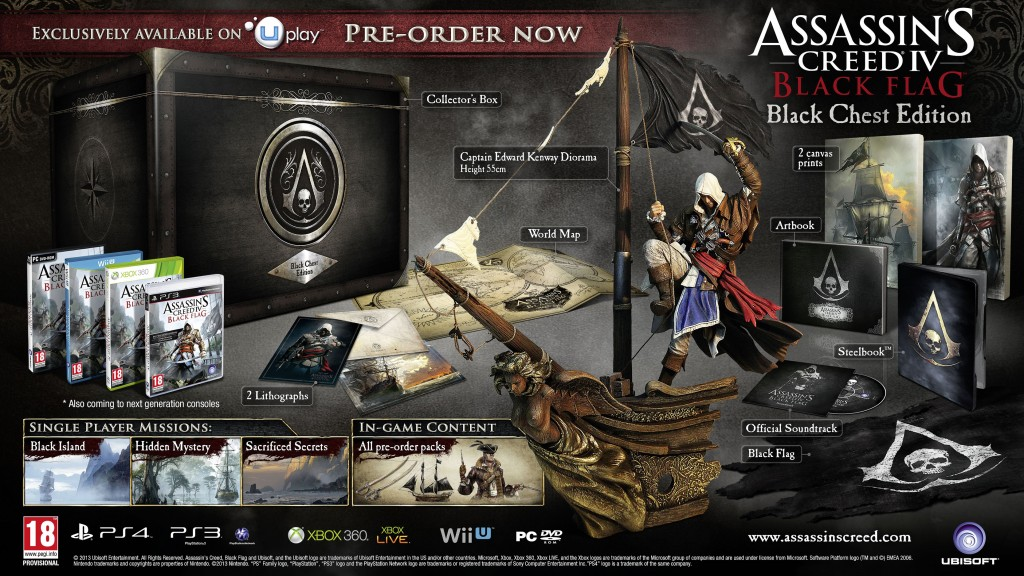 assassin's creed 4 black chest edition