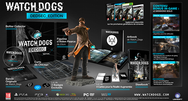 DEDSEC EDITION WATCH DOGS FR