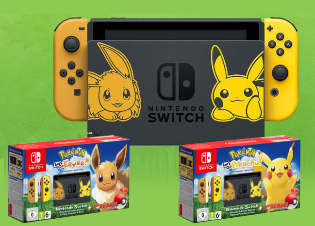 Des packs Nintendo Switch de Pokemon Let's Go en approche