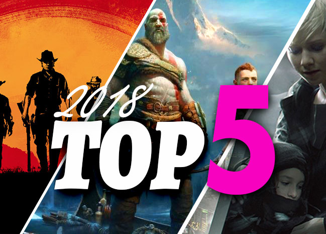 Top 5 jeux video 2018
