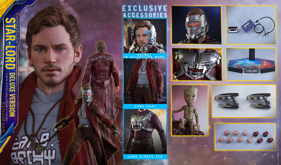[unboxing] Figurine Star-Lord Hot Toys  – Gardiens de la Galaxie 2 (Deluxe Version)